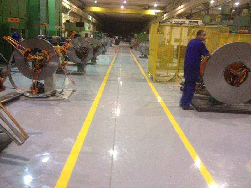 Serviços de pisos industriais